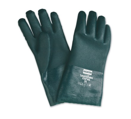 GANTS PVC VERT DBLE ENDUCTION 40CM
