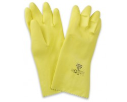 GANTS MENAGE LATEX JAUNE T297FL